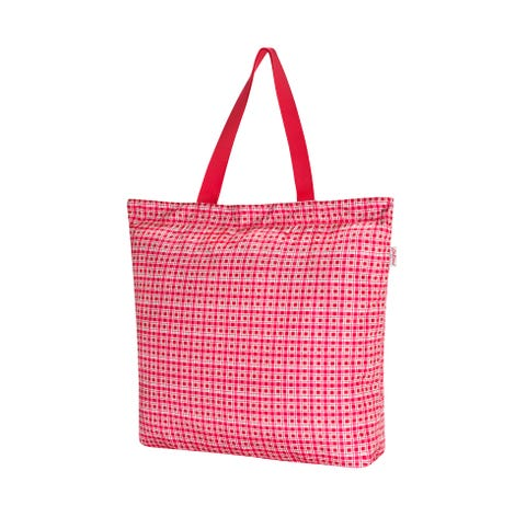 Painted Check Small Large Foldaway Tote