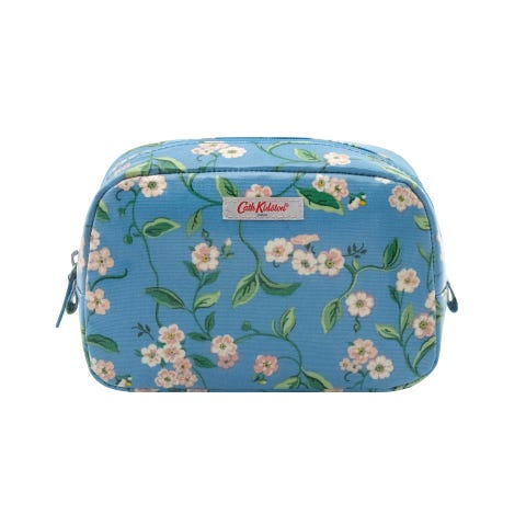 Forget Me Not Classic Cosmetic Case Blue