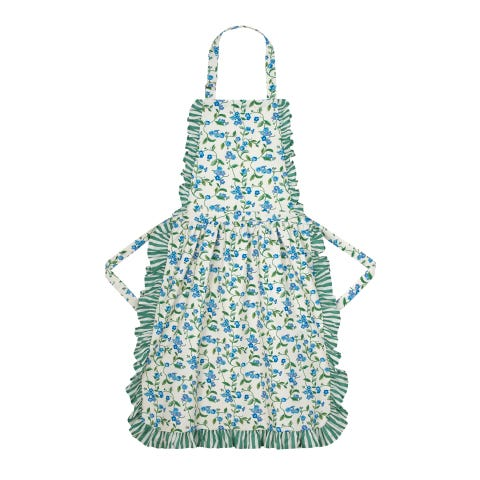 Forget Me Not Frill Apron