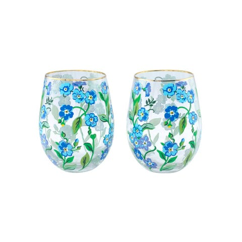Forget Me Not Set Of 2 Glasses