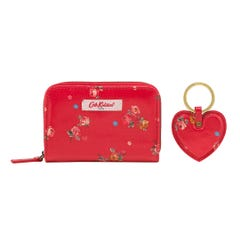 Wimbourne Ditsy Pocket Purse and Heart Key Ring Set
