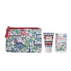 London View Cosmetic Pouch with Hand Cream & Hand Sanitiser