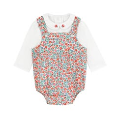 Ashbourne Ditsy Baby Romper and Tshirt Set