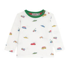 Spaced Garage Station Baby Long Sleeve Tshirt