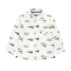 Spaced Dino Long Sleeve Oversized Shirt