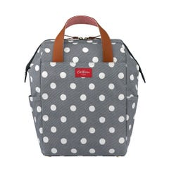 Button Spot Twill Premium Backpack Nappy Bag