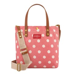 Button Spot Twill Small Tote