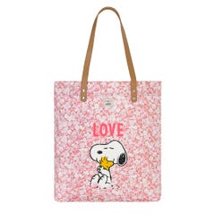 Snoopy Love Paper Ditsy Simple Shopper with Leather Handle
