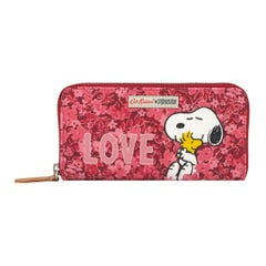 Snoopy Love Paper Ditsy Continental Placement Zip Wallet