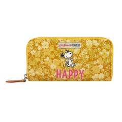 Snoopy Happy Paper Ditsy Continental Placement Zip Wallet