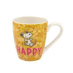 Snoopy Happy Paper Ditsy Collectable Boxed Mug