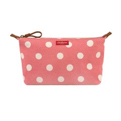 Button Spot Twill Beauty Pouch