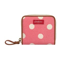 Button Spot Twill Premium Compact Continental Wallet