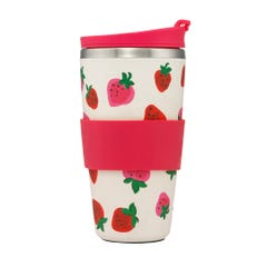 Sweet Strawberry Bamboo Travel Cup