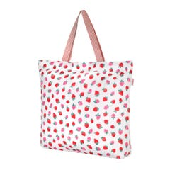 Sweet Strawberry Large Foldaway Tote