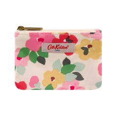 Large Painted Pansies Double Pocket Purse