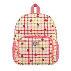Strawberry Gingham Kids Classic Large Rucksack with Mesh Pocket
