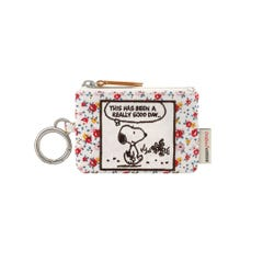 Snoopy Tiny Rose ID Purse With Keyring