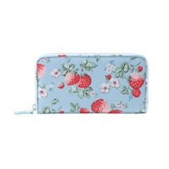 Mini Wild Strawberry Zip Wallet