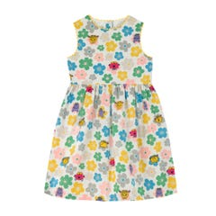 Little Miss Flowers Charlotte Sleeveless Dress