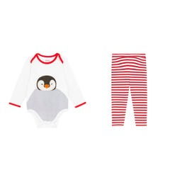 Festive Party Animals Bodysuit and Legging Set