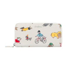 Small Park Dogs Continental Zip Wallet
