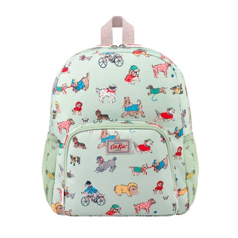 Small Park Dogs Kids Classic Large Backpack With Mesh Pocket